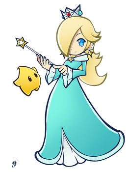Rosalina and Luma - Puyo Puyo Art Style by RingoAndou