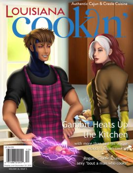Gambit Heats Up the Kitchen by NeriX-Nao