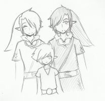 Dark, Link and Vio by Ask-VioLink