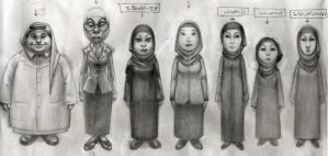 More Saudi characters lined up by lostmankind