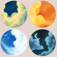 Clouds Buttons by ClefdeSoll