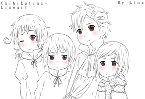LM: Chibi Latins LINEART by Masterchococheese