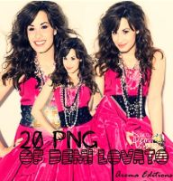 Demi Lovato pack 20 PNG by Demilovatoisperfect