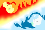 Ice and Fire-wallpaper by deoix