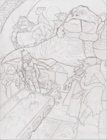 Boba Fett's Prize Pencil Drawing by Tyrant-1