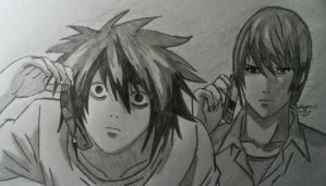 Death Note: L and Light by DBZlover11