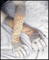 Zuri Extra Long Lace Arm Warmers by ZenAndCoffee
