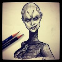 Asajj Ventress - Daily Sketch by GJoe