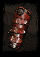 steampunk leather bracers by Lagueuse