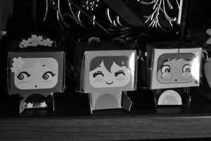 Sweet paper anime in b/w by FaggioMAG