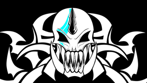 Skull Tribal by InsidiousWhiteRaven