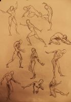 Life Drawing 1 and 2min by marvelmania