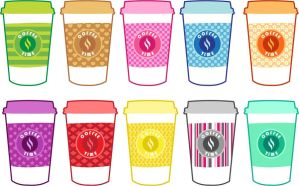 Coffee Cups by MidniteHearts