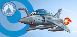 H.A.F. Mirage 2000-5 Toon by nailgungfx