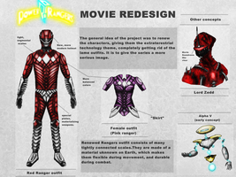 Power Rangers movie redesign by DarthDestruktor