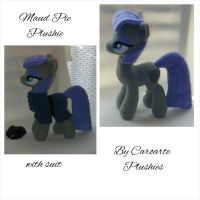 Maud Pie Plushie, with a suit by caroarte