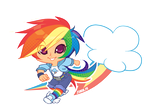 MLP Gijinka: Rainbow Dash by zimra-art