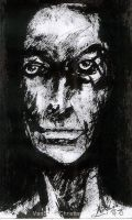 portrait of man - sumi-e ink by VanS3n