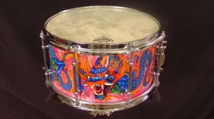 025 Dragon custom snare drum by InVistaArts