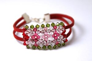 Crystal Flower Bracelet by kokito85