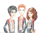 The Golden Trio by Isabel-Afolalu