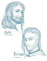 Rollo and Bryn new RP Characters by Destinyfall