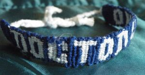 Doctor Who bracelet by sarahbombeara