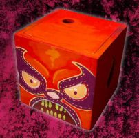 painted box luchador by TOTOPO