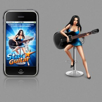 star guitar for iphone game by st-valentin