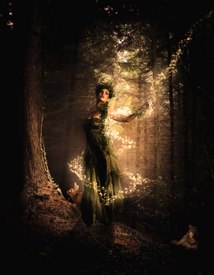 Woman, Forest and Magic by Warriortidus