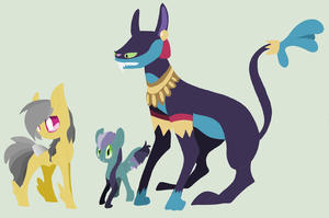 Darizotl Family by chainsaw-kitty