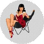 Cherry Pin up by electricircus