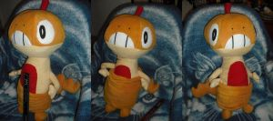 "Scraggy ""Zuruggu"" Plushie by willowfall"