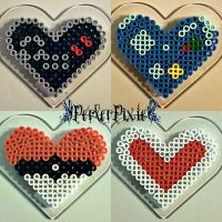 Video Game Hearts by PerlerPixie