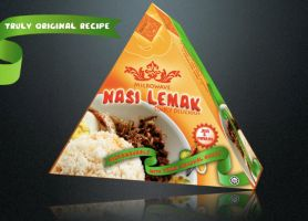 Nasi Lemak Packaging by kawaiwawi