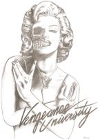 Marilyn Monroe , Vengeance University style by roseMCR
