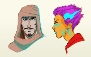 Some character designs by vesiel