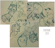 i draw too many foxes by foxtribe