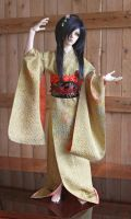 BJD kimono, Golden dance by InarisansCrafts