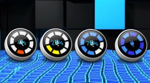 Round 3D Battery Meter 2 for xwidget (edited) by jimking
