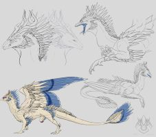 Rasaa Sketch Page by AshasCadence