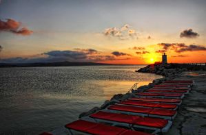 Sunset in Sile, Istanbul by WhiteWay