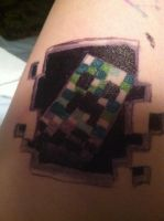 My Creeper Tattoo by DrunkCatHugs