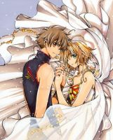 Sakura and Syaoran   Tsubasa Reservoir Chronicles by escafan