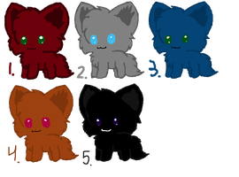 Kitty Adoptables c: by RavenMangekyo