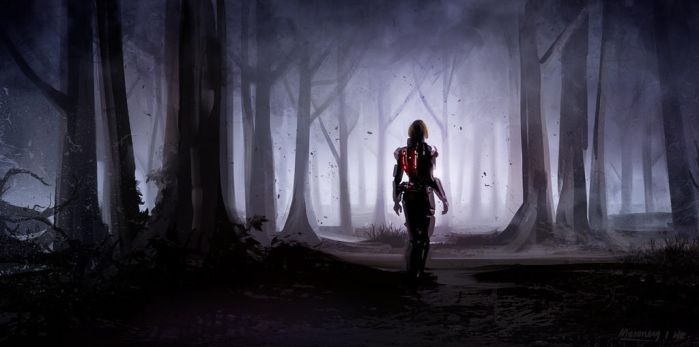 Mass Effect 1 hour speed paint by Llyannart