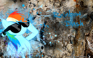 Rainbow Dash graffiti by aruigus808