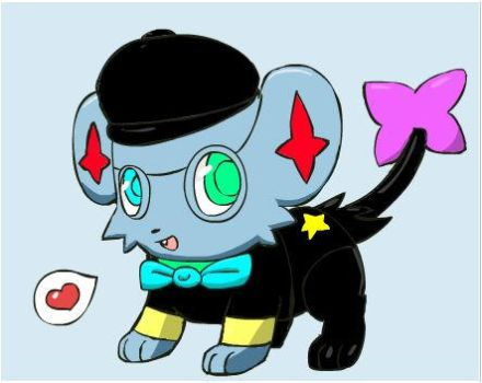 Shinx Dressed up. by Jigglypuff239