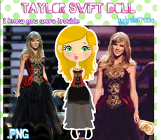 Taylor Swift Doll (I knew you were trouble) by RoohEditions
