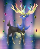 Xerneas - Geomancy by Rose-Beuty